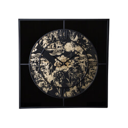 PTMD Klok 'Djay', Metaal, 72cm, kleur Goud