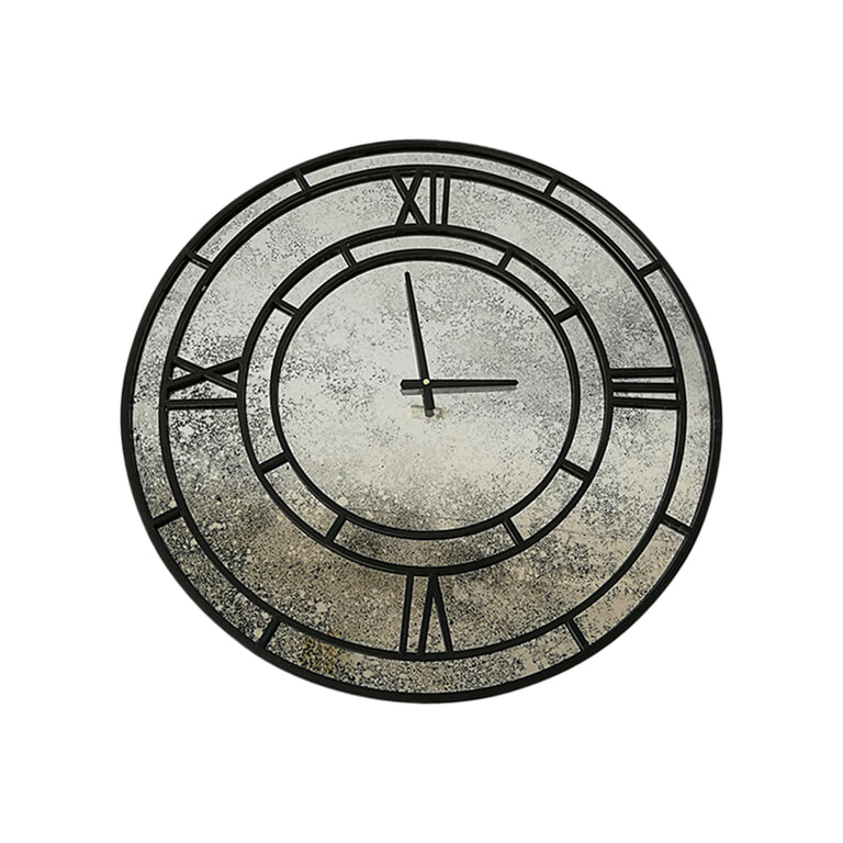 PTMD Klok 'Djay', Metaal, 70cm, kleur Zwart