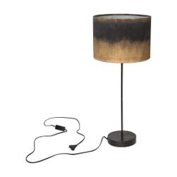 PTMD Tafellamp 'Flames', Metaal en Textiel, 65 x 28cm, kleur Goud