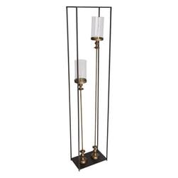 PTMD Kandelaar 'Xira', Metaal en Glas, 140 x 30 x 18cm, kleur Goud