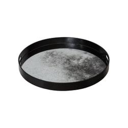 PTMD Dienblad 'Dania', Metaal, 48 x 4.5cm, kleur Zwart