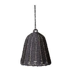 PTMD Hanglamp 'Lars', Geweven Zeegras, 50 x 35cm, kleur Zwart