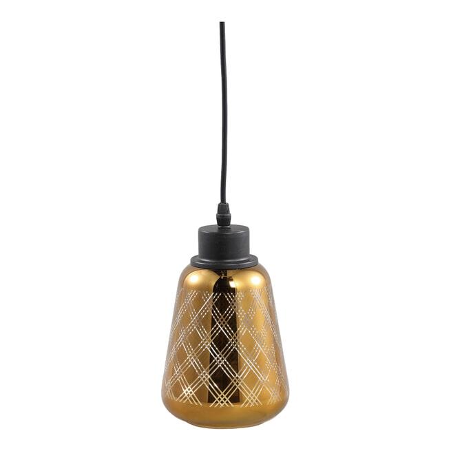 PTMD Hanglamp 'Doreen', Glas, 23 x 14cm, kleur Goud