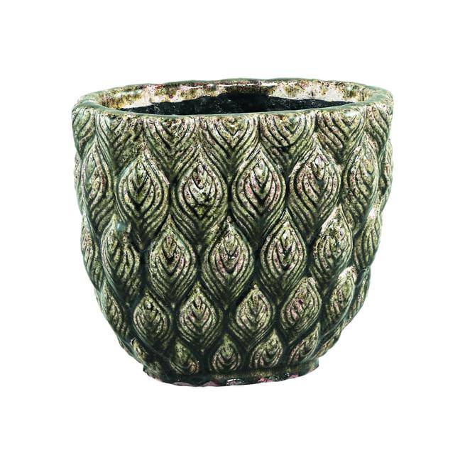 PTMD Pot 'Skipp', Keramiek, 22 x 14 x 25cm, kleur Groen