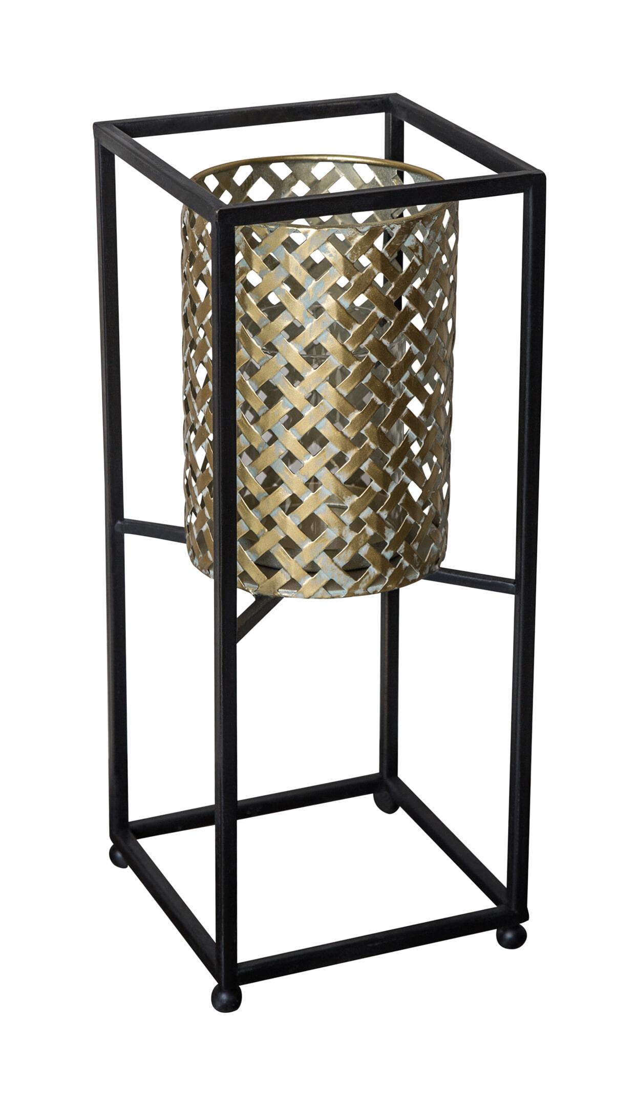 PTMD Lantaarn 'Brandon', Metaal, 37 x 15 x 15cm, kleur Goud