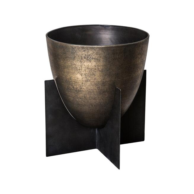 PTMD Pot 'Nevio', Metaal, 24 x 20 x 20cm, kleur Goud