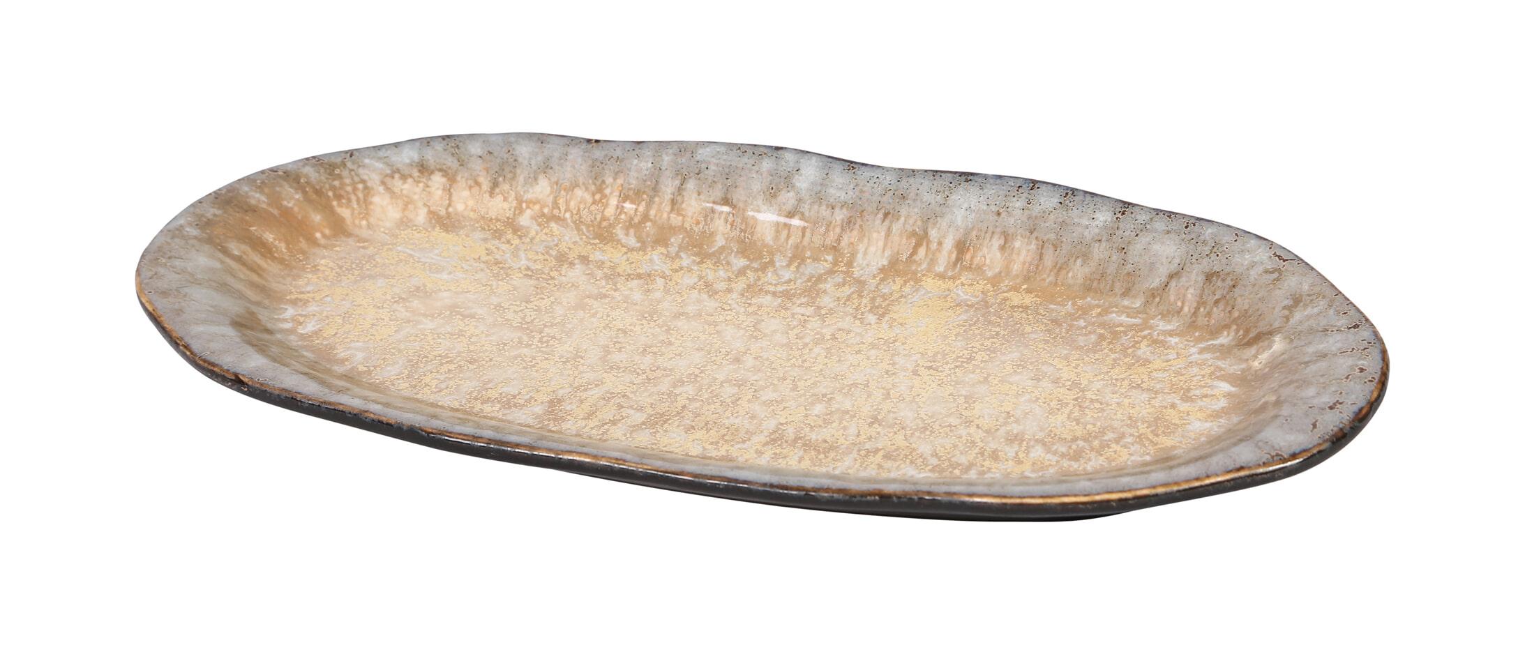 PTMD Bord 'Candice', Keramiek, 25 x 11.5 x 2.4cm, kleur Crème