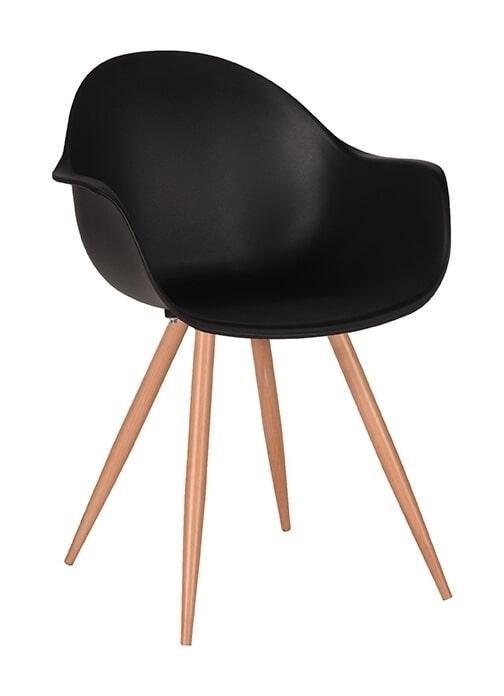 LABEL51 Eetkamerstoel 'Parma', kleur Zwart
