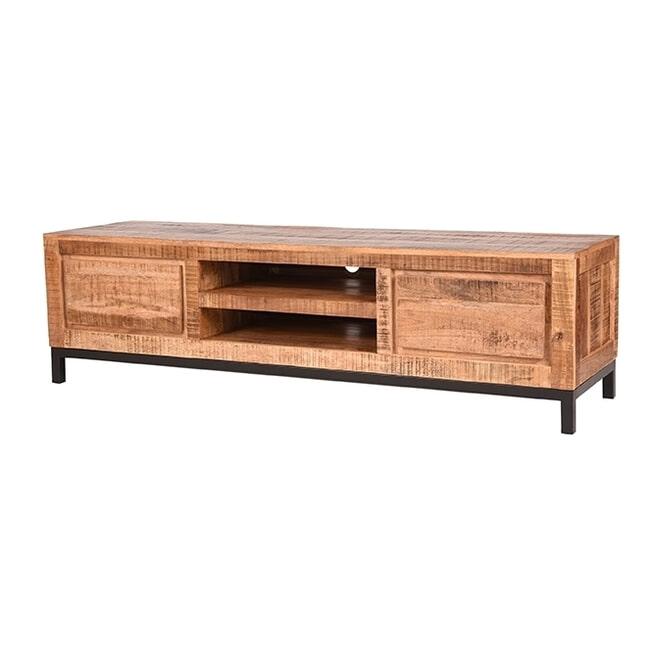 LABEL51 Tv-meubel 'Ghent', Mangohout, 160 x 45 x 45cm, kleur Bruin
