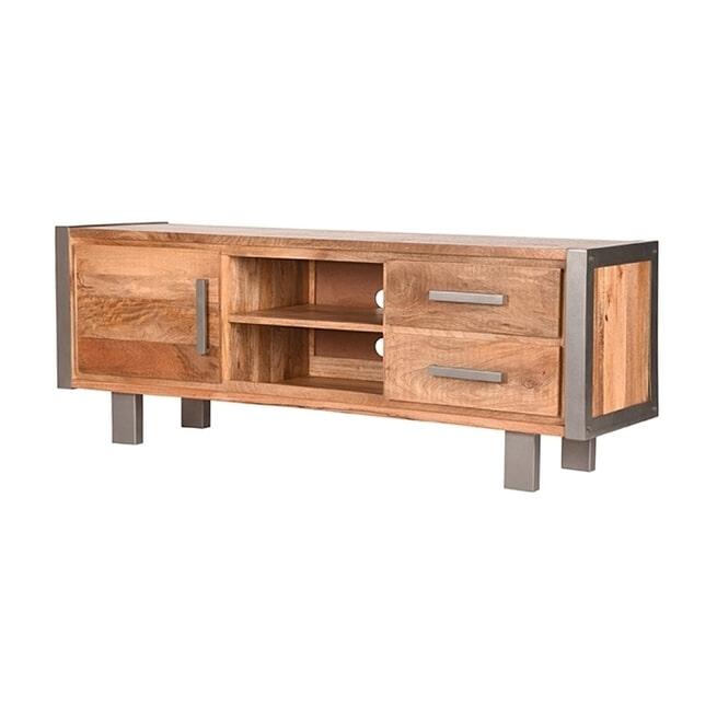 LABEL51 Tv-meubel 'Factory', Mangohout, 160 x 60 x 45cm
