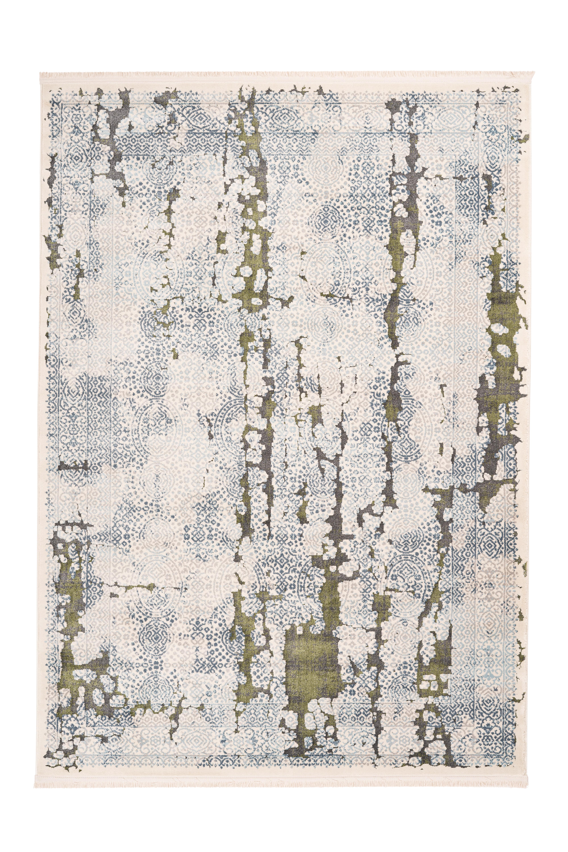 Kayoom Vloerkleed 'Palace 200' kleur grijs / groen, 120 x 170cm