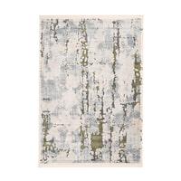 Kayoom Vloerkleed 'Palace 200' kleur grijs / groen, 80 x 150cm