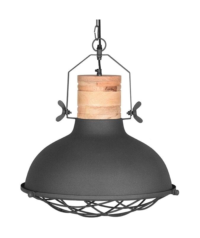LABEL51 Hanglamp 'Grid', Metaal, kleur Antiek Grijs
