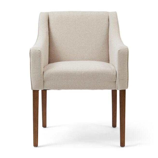 Rivièra Maison Eetkamerstoel 'Savile Row' Oxford Weave, kleur Flanders Flax
