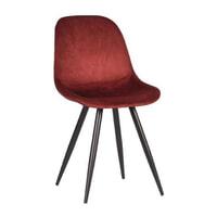 LABEL51 Eetkamerstoel 'Capri', Fluweel, kleur Rood