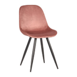 LABEL51 Eetkamerstoel 'Capri', Fluweel, kleur Roze
