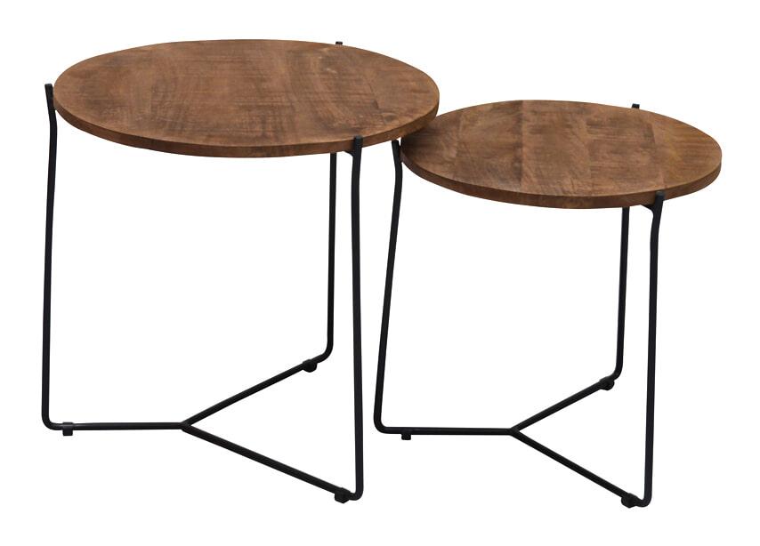 Brix Salontafel 'Mason' Black, set van 2 stuks Tafels | Salontafels vergelijken doe je het voordeligst hier bij Meubelpartner