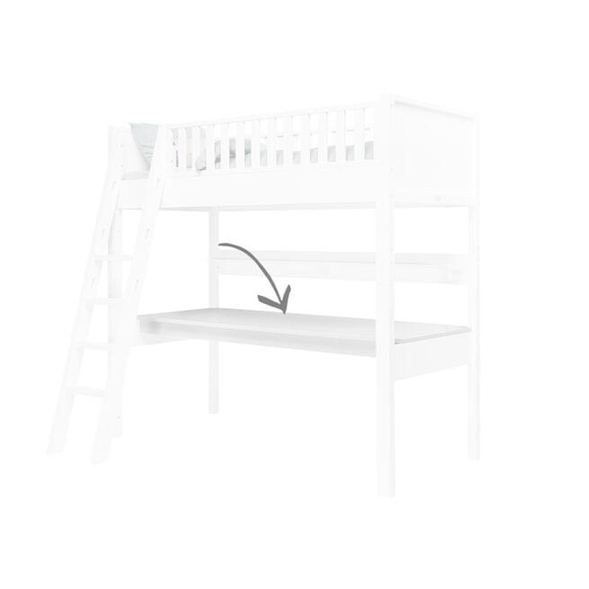 Bopita Bureaublad voor hoogslaper XL 'Nordic' kleur wit
