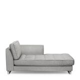 Rivièra Maison Chaise Longue 'West Houston' Rechts, Velvet, kleur Platinum