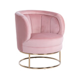 Richmond Fauteuil 'Felicia' Velvet, kleur Roze / Goud