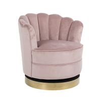 Richmond Draaifauteuil 'Mila' Velvet, kleur Roze