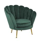 Richmond Fauteuil 'Perla' Velvet, kleur Groen