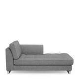 Rivièra Maison Chaise Longue 'West Houston' Rechts, Washed Cotton, kleur Grey