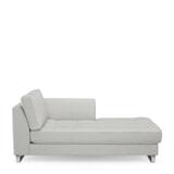 Rivièra Maison Chaise Longue 'West Houston' Rechts, Washed Cotton, kleur Ash Grey