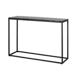 Richmond Sidetable 'Fairmont' Marmer en staal, kleur zwart, 150cm