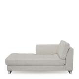 Rivièra Maison Chaise Longue 'West Houston' Links, Oxford Weave, kleur Aaskan White