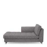 Rivièra Maison Chaise Longue 'West Houston' Links, Oxford Weave, kleur Steel Grey