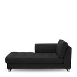 Rivièra Maison Chaise Longue 'West Houston' Links, Oxford Weave, kleur Basic Black