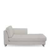 Rivièra Maison Chaise Longue 'West Houston' Rechts, Oxford Weave, kleur Alaskan White