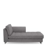 Rivièra Maison Chaise Longue 'West Houston' Rechts, Oxford Weave, kleur Steel Grey