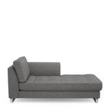 Rivièra Maison Chaise Longue 'West Houston' Rechts, Oxford Weave, kleur Classic Charcoal