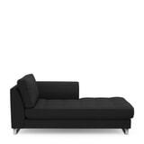 Rivièra Maison Chaise Longue 'West Houston' Rechts, Oxford Weave, kleur Basic Black