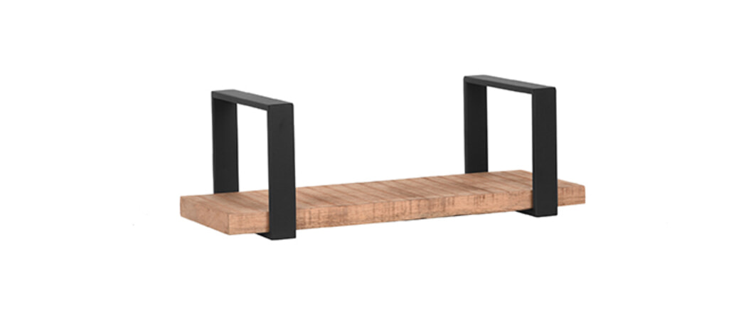 LABEL51 Wandplank 'Slam', Mangohout, 60 x 23 x 20cm