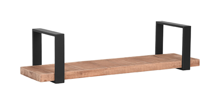 LABEL51 Wandplank 'Slam', Mangohout, 80 x 23 x 20cm