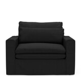 Rivièra Maison Loveseat 'Continental' Oxford Weave, kleur Basic Black