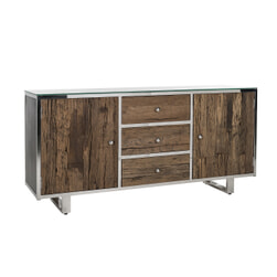 Richmond Dressoir 'Kensington' RVS en Mangohout, 172cm