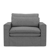 Rivièra Maison Loveseat 'Continental' Washed Cotton, kleur Grey