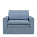 Rivièra Maison Loveseat 'Continental' Washed Cotton, kleur Ice Blue