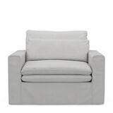 Rivièra Maison Loveseat 'Continental' Washed Cotton, kleur Ash Grey