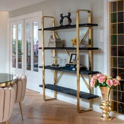 Richmond Wandrek 'Vendôme' Hout en Staal, kleur Goud / Zwart