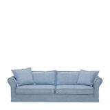 Rivièra Maison 3,5-zits Bank 'Carlton' Washed Cotton, kleur Ice Blue