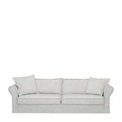 Rivièra Maison  3,5-zits Bank 'Carlton' Washed Cotton, kleur Ash Grey