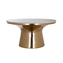 Richmond Salontafel 'Jackson' kleur Goud / Grijs, Ø 80cm