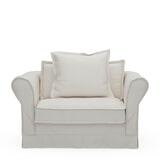 Rivièra Maison Loveseat 'Carlton' Oxford Weave, kleur Alaskan White