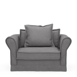 Rivièra Maison Loveseat 'Carlton' Oxford Weave, kleur Steel Grey