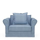 Rivièra Maison Loveseat 'Carlton' Washed Cotton, kleur Ice Blue